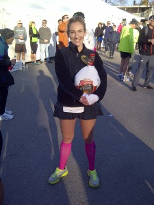 I won my age group and a Turkey!
