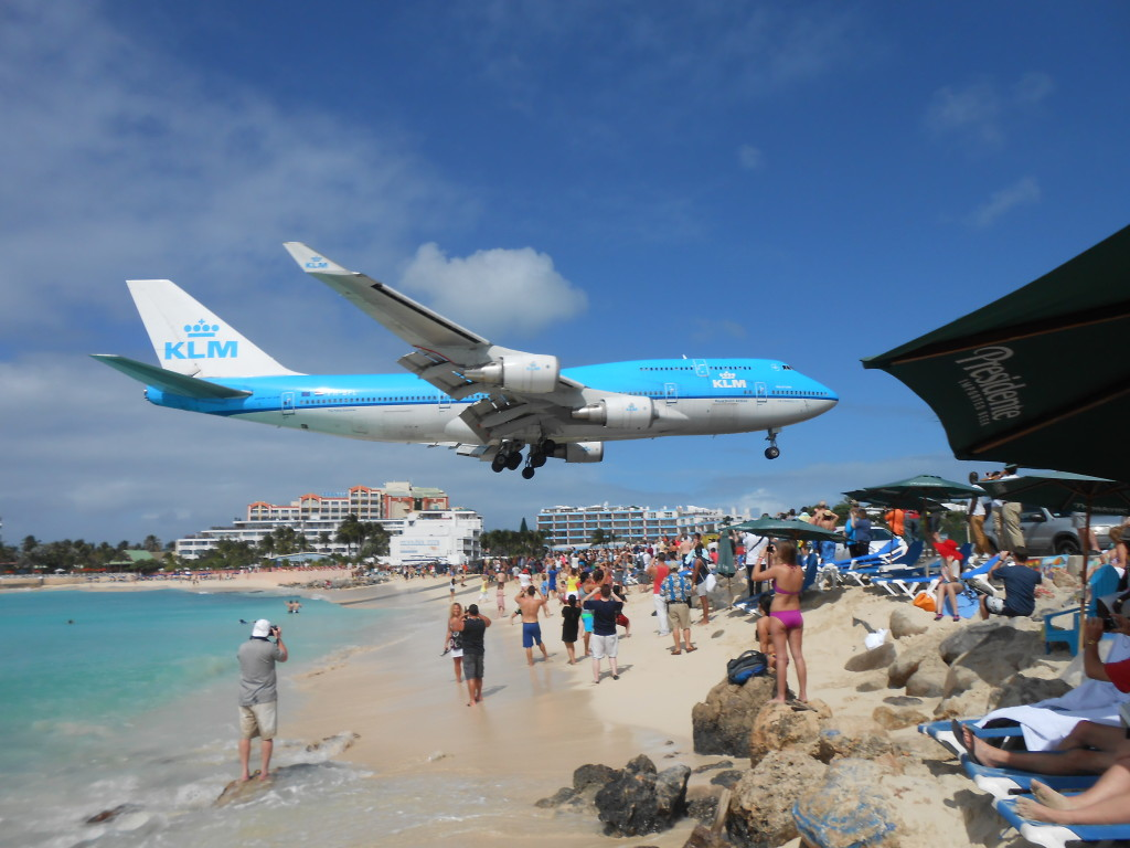 "Went to the ""airplane"" beach in St. Martin (did not stand in the death zone)"