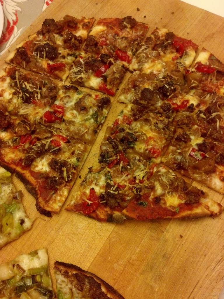 Friday night: Sausage & Pepper Pizza